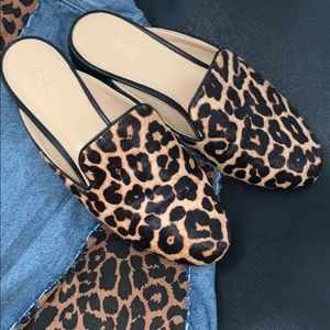 Michael Kors' leopard mules are like new!